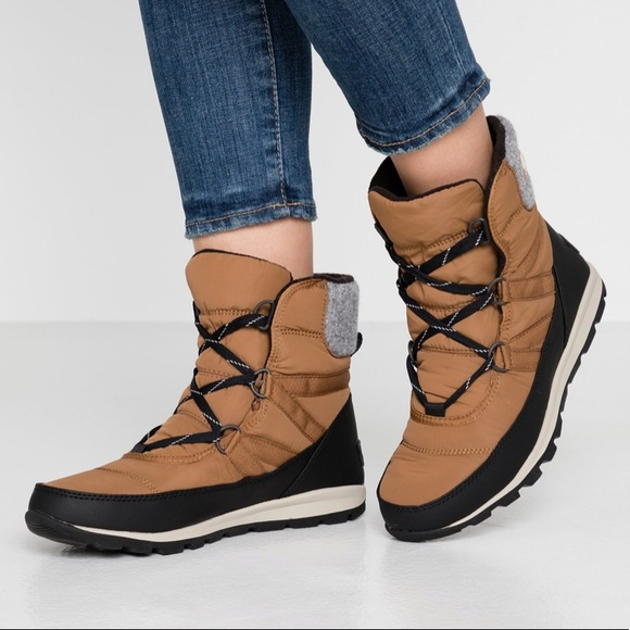 NIB Sorel Whitney Lace Camel Winter Boots  - 8
